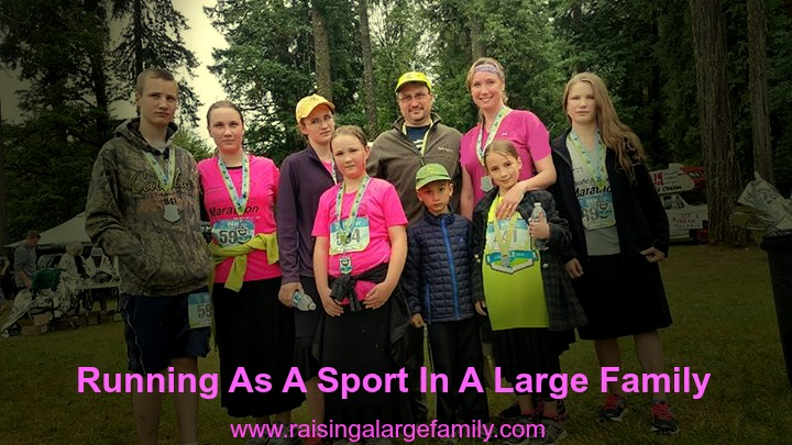 Running as a Sport in a Large Family