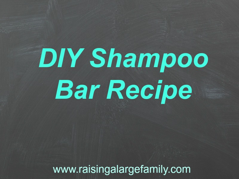 I've tried numerous recipes for shampoo bars. I think we have finally found a winner!