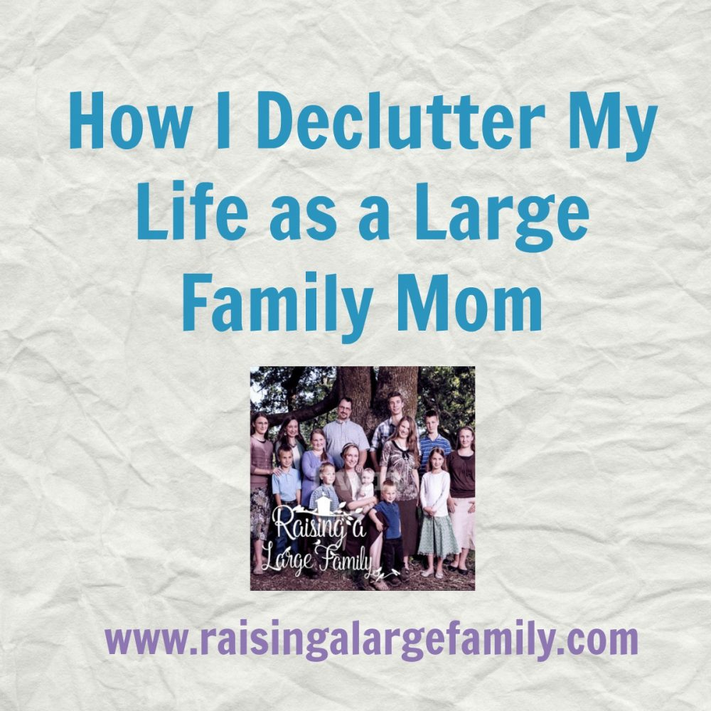 I have found that decluttering on the outside helps me declutter on the inside. What I mean by this is the less stuff and activities I have going on around me the more at peace I find myself in.
