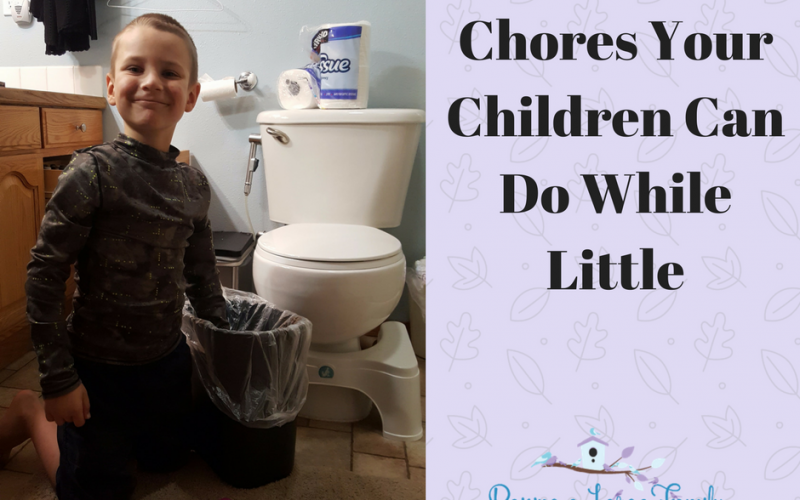 Chores Your Children Can Do While Little