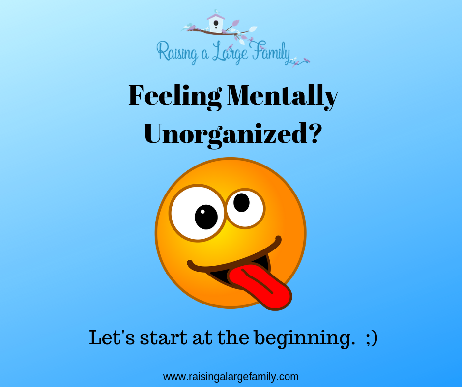 Are You Feeling Mentally Unorganized?